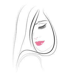 hair beauty makeup icon vector image