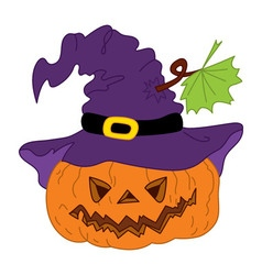 Halloween Pumpkin with Hat vector