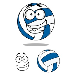 Happy cartoon volley ball vector image