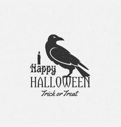 happy halloween label emblem or card vector image