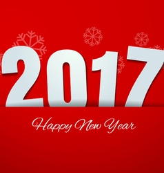 Happy New Year 2017 on Red Background vector