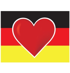 heart germany flag vector image