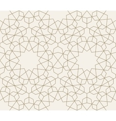 Islamic geometric seamless pattern background vector