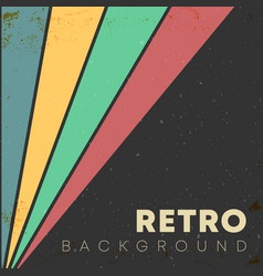 Linear background with retro grunge texture vector