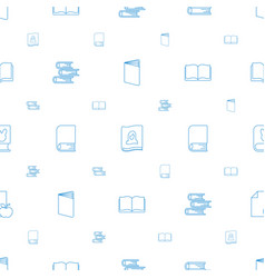 literature icons pattern seamless white background vector image