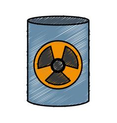 Nuclear barrel icon vector