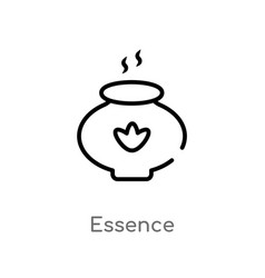 Outline essence icon isolated black simple line vector