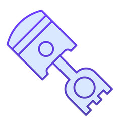 Piston flat icon car cylinder vector
