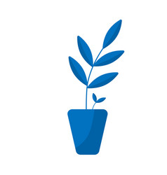 plant pot icon flower plant symbol gardening vector image