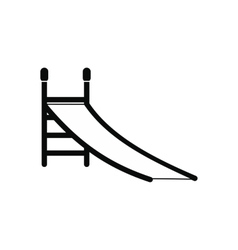 Playground slide icon vector image