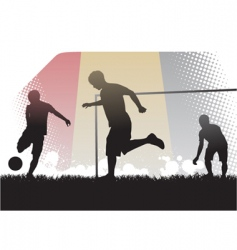 playing soccer vector image
