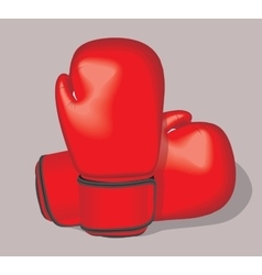 Red boxing gloves Realistic vector image