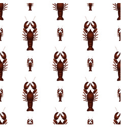red lobster animal simple seamless pattern eps10 vector image