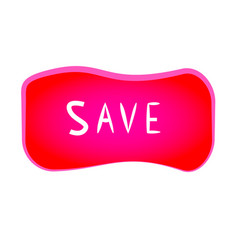 red save button vector image
