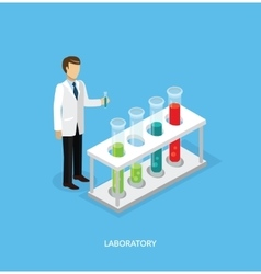 Science lab isomatric design flat vector
