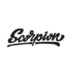 scorpion zodiac hand lettering vector image