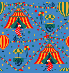 Seamless circus vector
