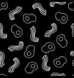 seamless pattern with breakfast eggs and vector image