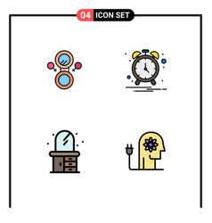 Set 4 modern ui icons symbols signs for mirror vector