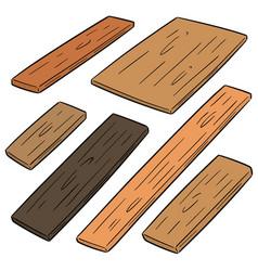 Set plywood vector