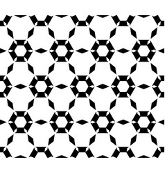Simple black white hexagonal pattern vector
