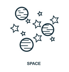 space icon flat style icon design ui vector image