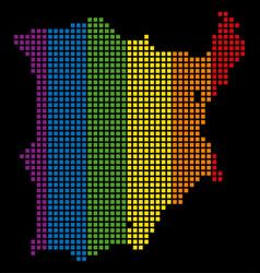 spectrum dotted lgbt koh samui map vector image