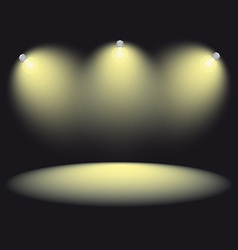 spotlight stage vector image