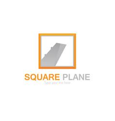 square plane logo vector image