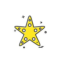 starfish icon design vector image