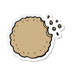 Sticker of a cartoon cookie vector