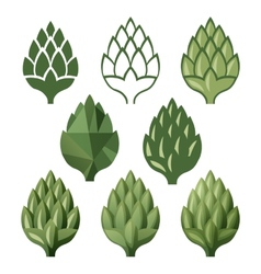 Stylized hop icons vector