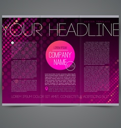 Template abstract leaflet page design vector