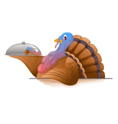 Turkey with Metal Tray vector