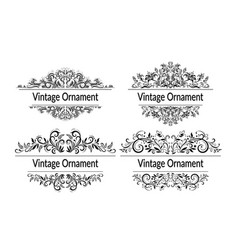 vintage contour patterns vector image
