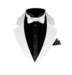 White tuxedo vector
