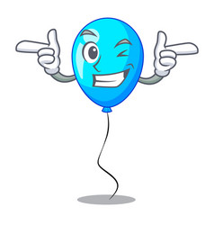 Wink blue balloon character on the rope vector