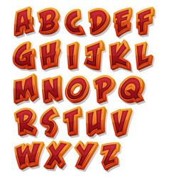 comic alphabet font set vector image