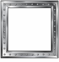metal frame with bolts vector image vector image