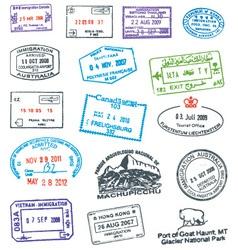 Passport Stamp vector image vector image