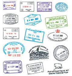Passport Stamp vector image