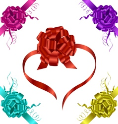 ribbons with bow vector image vector image