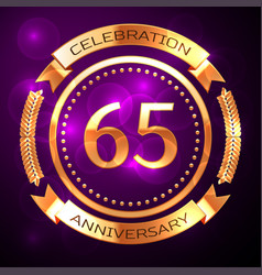 sixty five years anniversary celebration with vector image