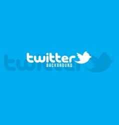 Twitter logo background image vector