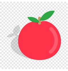 apple isometric icon vector image