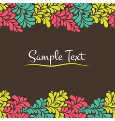 Colorful abstract seamless frame vector image