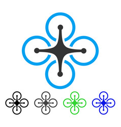 quadrocopter flat icon vector image vector image