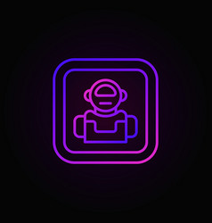 robot colorful icon or button in line style vector image