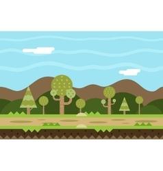 Seamless Road Nature Concept Flat Design Landscape vector image vector image
