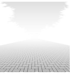 Concrete block pavement vector image vector image